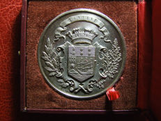 """France - """"Lorient / 1885 Horticultural Exposition"""" Medal by Desaide - Silver"""