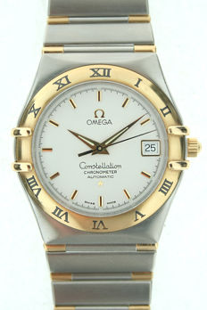 Omega Constellation Men's Watch, Steel and Gold, Automatic, 02/1997