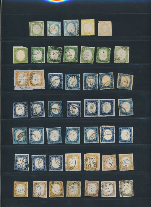Italy 1890-1891 - Collection lot from Sardegna