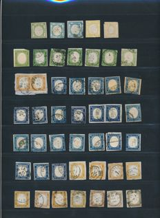 Italy 1890-1891 - Collection lot from Sardegna  - Sassone: 10; 17; 20; 23; 13E; 14E; 15E; 16F; 17D; 19