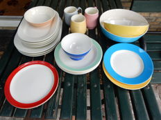Various pieces of Maastricht and Boch tableware from the 1950s.