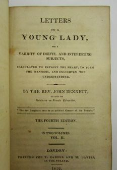 The Rev. John Bennett - Letters to a Young Lady - 1812