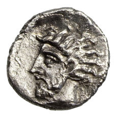 Ancient Greece - Cilicia - unknown mint (~400 BCE) AR Obol, Athena