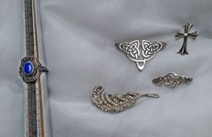 A collection silver 925 silver vintage jewellery