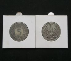 West Germany - 22 x 5 Deutsche Mark - silver eagle