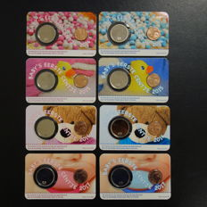 The Netherlands – Baby Coin cards 2014, 2015, 2016 and 2017 (8 differrent ones)