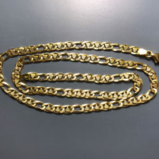 18 kt yellow gold chain, length: 49.50 cm