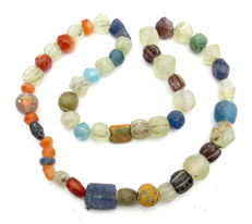 Viking Period  Necklace with Coloured Glass Beads - 470 mm