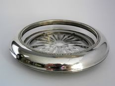 Bottle holder / Champagne coaster with silver mounting, Frank M. Whiting & Co, Sterling, 1st half 20th century