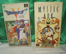 Super Famicon Dragon Quest V (5) + MYSTIC ARK (unreleased English Translated Versions)