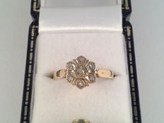 Yellow golden ring with diamond