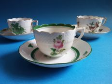 Three collectible Herend cups