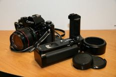 Canon A1 body with lens 50 mm 1.2 & MA motor drive MA