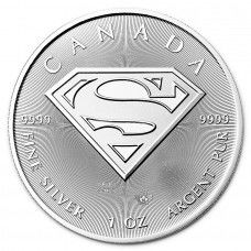 Canada - 5 CAD - SUPERMAN™ Shield 2016 - 1 oz 999 Silver