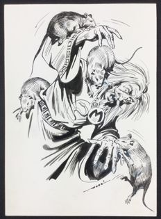 "Muzzi, Virgilio - original illustration for Tex ""L'atroce fine di Mefisto"""