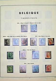 Belgium 1849/1969 – Collection on album sheets