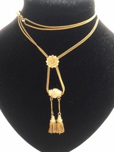Vintage gold necklace, 19th century
