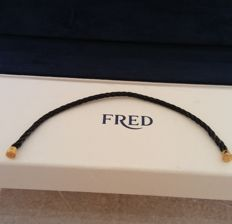 """Fred - """"Force 10"""" black steel gold bracelet with box - 14 cm *** no reserve price ***"""