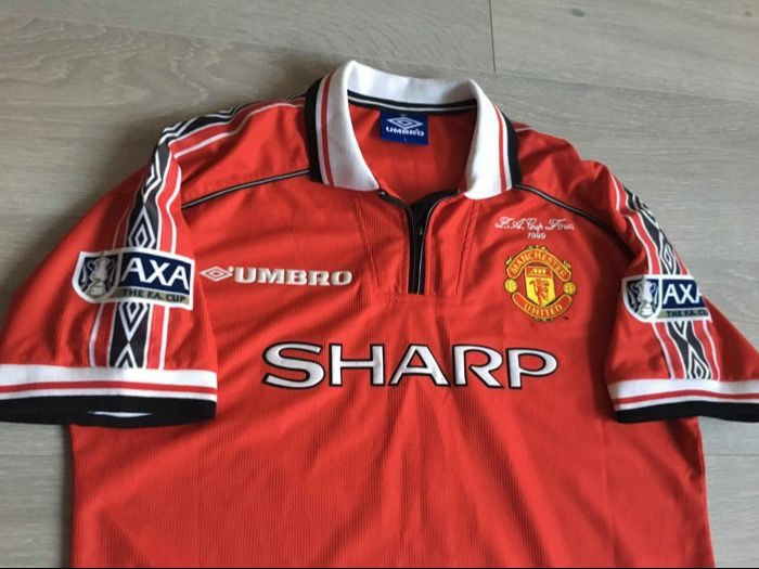 FA Cup Final 1999 Shirt - David Beckham - Manchester United Away - Size L.