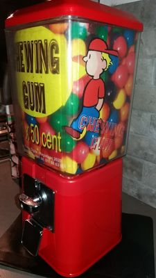 GUMBALL machine 1960s/80s Brand: Brabo Antwerpen, accepts 0.50 euro coins, complete and original from the GB supermarkets in Belgium