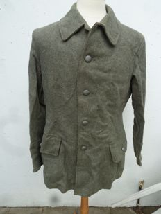 WW2 Swedish Army Fitted Wool Coat  M39 Jacket