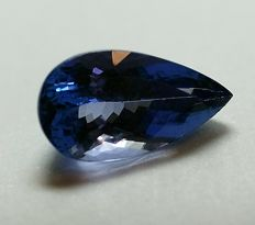 Tanzanite - blue-violet - 4.91 ct