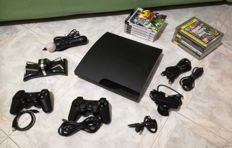 PlayStation 3 ultraslim 150 GB incl 2 controllers, 11 games , double charging station , playstation move and more