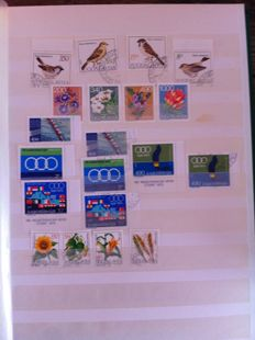 World - 6 albums of stamps.