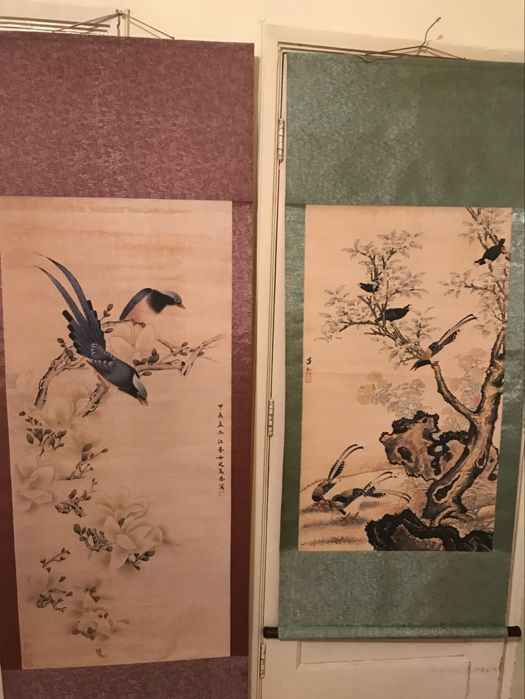 Printed reproduction of old paintings - China - late 20th century