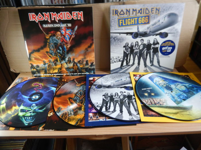 Iron Maiden - Flight 666 + Maiden England 88 - 2 x Limited Edtion Double Picture Disc Albums