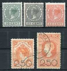 The Netherlands 1920/1924 – Clearance issue and Exhibition – NVPH 104/105 + 136/138