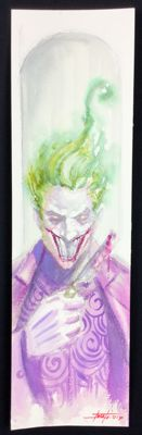 Original signed art by Luca Strati - DC Comics - Joker