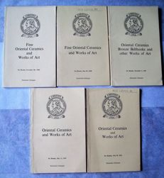 Lot with 7 catalogues of old collections  Fine Oriental Ceramics - 1952/1970.