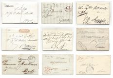 Italy 1805/1849 - Small lot of 13 prephilatelic letters