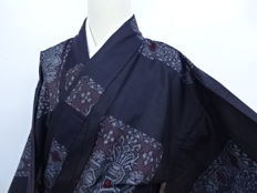 Antique 'Oshima Tsumugi-silk' kimono - Japan - ca. 1930-1940 (End of Taisho/Early Showa period)