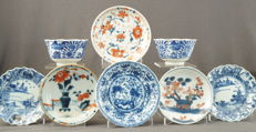 Collection of cups and platters – China – Qing dynasty (1644-1912)
