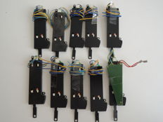 Märklin H0 - 74490/-1 - 10 switch drives, 1 with decoder for C rails