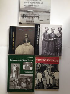 Indonesia; Lot with 5 photo books about historic photography in Indonesia - 1961 / 2009