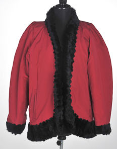 Yves Saint Laurent - Vintage coat with mink fur trim and fur lining