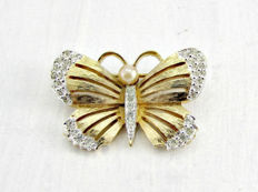Panetta vintage butterfly brooch New York 1955-1960