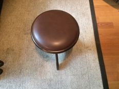 Mahogany brown Andexinger Piano stool 419 offered for sale