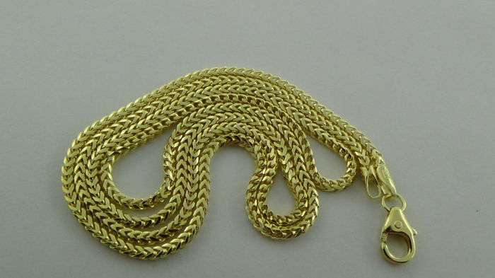 14 kt Gold Curb Link Necklace -  Length: 50 cm – 7.85 Grams