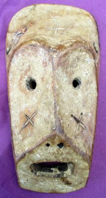Wooden mask of the Warega from Congo