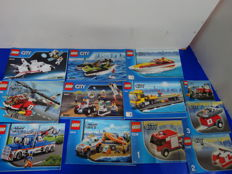 City - 9 sets o.a 4643 + 60056 + 60078 - Power Boat Transporter + Tow Truck + Utility Shuttle