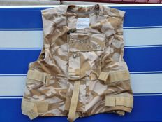 "Great and Rare British Iraq Cover Body Armour, Desert DPM with Soldier's Name "" LAMBIE "",registration number for full ""24879989""and blood group 0+"