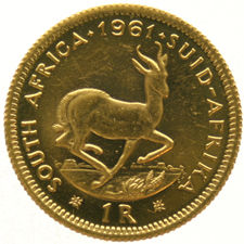 South Africa – 1 Rand 1961 – gold