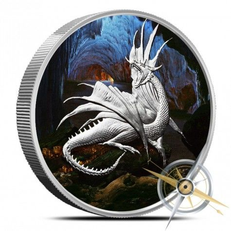 USA - 5 oz - Nordic Creatures - Nidhoggr 2016 - Proof - Colour Edition - With certificate - 999 silver