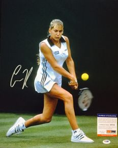 Anna Kournikova - Signed Poster 40x50 cm -  with Hologram of Authenticity PSA/DNA