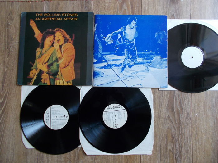 The Rolling Stones Lot Of 2 Lp  :  Double Lp American Affair And Live R Than You'll Ever Be , Unofficial Releases