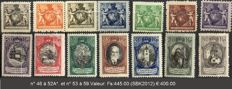 Liechtenstein 1921-1928 – Small selection – SBK46/52, 53/60, 61a and 62b, 63 to 71